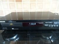 PHILLIPS CD710 COMPACT DISC PLAYER WITH ORIGINAL MANUAL , VGC