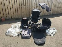 Quinny Buzz Pushchair 3 in 1 travel system and maxi cosi car seat plus extras