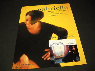 GABRIELLE says GIVE ME A LITTLE MORE TIME 1996 Promo Display Advert mint cond.