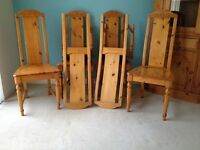 Pine Dining Table and 6 chairs, free corner unit with purchase