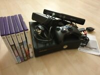 Xbox 360 S 4gb Kinect bundle & 6 games