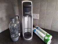 Sodastream with bottles and cylinders