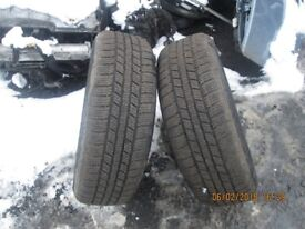 Volkswsagent Golf Pair Wheels with Snow Tyres 185/65 15 5 x 100.