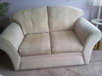 2 seater cream/ beige sofa