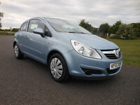 VAUXHALL CORSA 1.2 CLUB , 2007 (07 reg) lady owner, outstanding condtion !! FULL SERVICE HISTORY !!