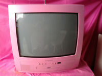 Technosnic TV / Television Pink with a DVD player .FREE LOCAL DELIVERY