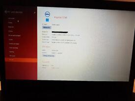 Dell Inspiron 5748 Intel i5-4210u processor, 8gb ram & 1 tb hdd Windows 8 installed