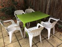 Garden/Patio/Picnic table and chairs