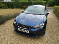 Blue Seat Leon 1.4 TSi, Petrol, Manual 23k miles 2015 with Sat Nav and AC