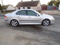 06 saab 93 vector sport 1.9 tidi 07 model t diesel 4 dr silver 6 speed 150 b h pwr v clean full mot
