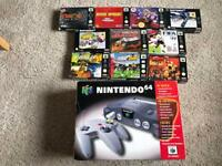 N64 Nintendo 64 boxed console & games