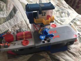 Imaginext boat/ship with helicopter pad