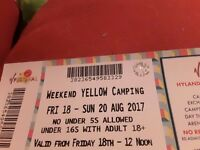 V FESTIVAK TICKET WITH CAMPING Bargain at £150 OR BEST OFFER, SO MANY ARTISTS OVER THIS WEEKEND