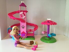 Barbie dog play set with carousel