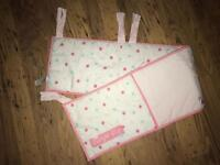 Girly Cot Bumper