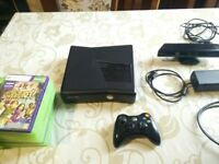 XBOX 360 + KINECT + ONE CONTROLLER + 20 GAMES