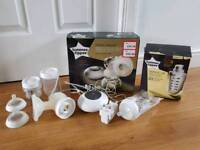 Tommee Tippee electric breast pump and accessories