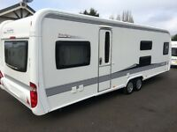 Hobby 720 KMFE Prestige (2012) 7 Berth, Fixed Bunk Beds, On Board Battery, One Owner From New!
