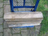 coping stones, for single brick wall. six in all