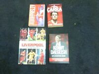 4 LIVERPOOL FC BOOKS, BOB PAISLEY , KENNY DALGLISH, JAMIE CARRAGHER & LIVERPOOL SOCCER SPECIAL