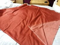 Soft furnishing fabric for curtains, cushion covers etc: 10 metres: terracotta colour