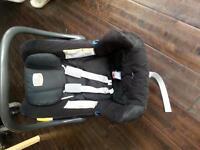 bargain baby stuff. britax car seat. cosy tot premium