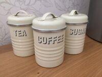 Tea, Coffee, Sugar cannisters