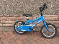 Almost new boys Ridgeback MX14 bike (suits a 4 - 6 year old)