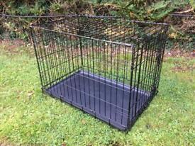 Dog Cage Folding Animal Transport Cage VGC