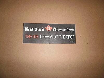 OMJHL Brantford Alexanders Vintage Logo Bumper Sticker