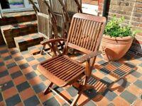 4 Winchester Teak Garden Chairs