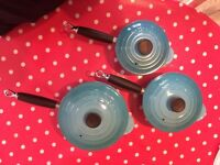 Le Creuset saucepan set for sale
