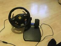 Thrustmaster Ferrari Italia Racing Wheel for Xbox 360 & PC + Pedals & Clamp