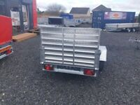 BRAND NEW MODEL 7X4 FLAT TIPPING TRAILER WITH A RAMP 750KG