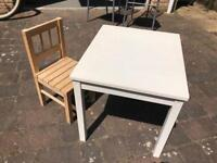 FREE TO GOOD HOME! Child's table and chair