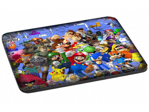 Video+Game+Characters+-+40+years+of+Gaming+Mouse+Mat+%28140%29
