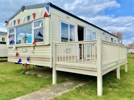 Cheap static caravan for sale with decking in Essex
