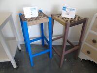 Blue Upcycled Stool