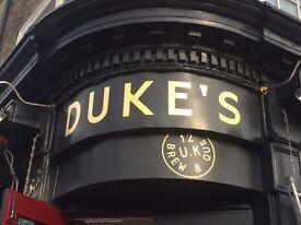 Experienced Waiter required – Duke's Brew & Que (Haggerston)