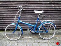 BSA/Raleigh Twenty vintage bike unisex blue