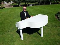 Top 40 Charts, Pop, Bollywood, Jazz, Classical - Pro Pianist with Piano Shell for weddings & events