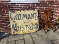 Colmans Mustard vintage enamel/metal sign