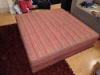Large, stylish soft ottoman for sale!