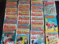 1998 Beano and Dandy annuals with 25 comics from that year
