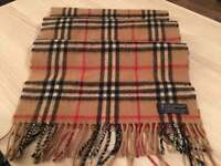 Genuine Burberry Nova Check cashmere wool scarf, priced to sell