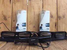 Sony 3D Glasses - TDG-BR250 Active Shutter Glasses X2