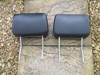 Mk2 golf black leatherette headrest x2