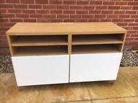 Ikea Sideboard Unit, Oak and White, TV Unit