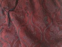 Ruby red heavy interlined curtains .To fit pole 484cm long. Drop 225 cm