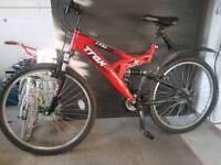 Trax full suspension bike